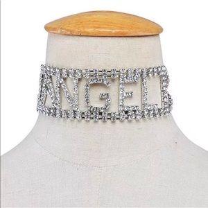 Jewelry - Angel Choker Rhinestones Sexy Stripper Collar New